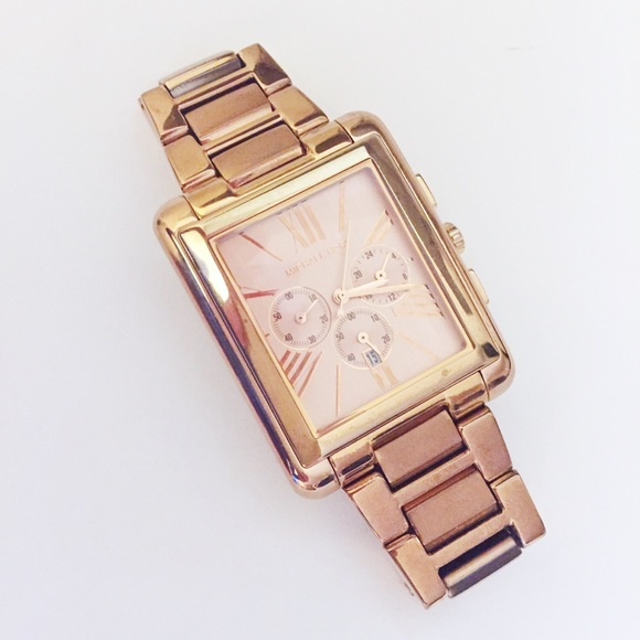 1cc674b211da Michael Kors Rose Gold square face watch. M 5a7001d43800c5fc2325ea8d